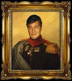 Stephen Fry as Russian General by Steve Payne (2011)