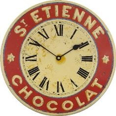 size, print out and attach to old cds, or, as a new face to an old clock. Clock Face white life ©: Recycling of old CDs - free printable clock faces for old cd's Clock Art, Clock Decor, Clock Face Printable, Café Design, Chocolate Walls, French Chocolate, St Etienne, French Clock, Old Cds
