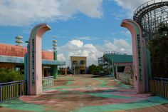 Takakanonuma greenland japan entrance to the peddle coaster deserted places the abandoned six flags new orleans amusement park sciox Choice Image
