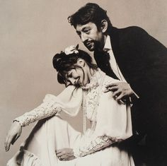 Jane Birkin and Serge Gainsbourg by Cecil Beaton, 1971