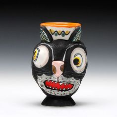 Schaller Gallery : Exhibition : Michael Corney : Cat Cup - Ball and Chain