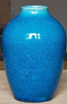 Stonelain Mid Century Modern Server and Soini Vase in Metallic Cerulean Blue