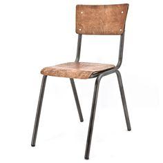 Vintage schoolstoel - De Bongerd