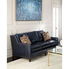 Having | Pinterest | Leather, Blue Leather Sofa And Leather Sofas
