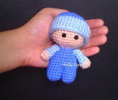 Mini version of the Big Head Baby Doll via AYarnful Day.