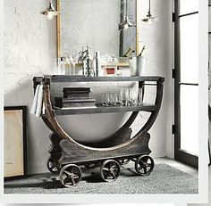 Restoration Hardware Bar Trolley: Can I watch for items to make this bar trolley?