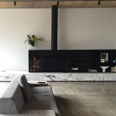 Regram from of completed in 2016 Home Fireplace, Modern Fireplace, Fireplace Design, Fireplaces, Dream Home Design, House Design, Fireplace Feature Wall, Living Area, Living Spaces