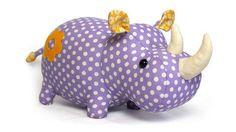 Peluche Rhino - tuto et patron couture chez Makerist