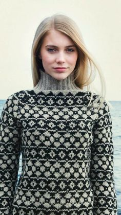 Fair Isle Knitting, Lace Knitting, Knit Crochet, Fair Isle Pattern, Hand Knitted Sweaters, How To Purl Knit, Christmas Knitting, Sweater Design, Knit Fashion