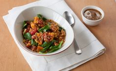 Epicure's Le Taj Sweet Potato & Spinach Dahl Love this new sauce! Epicure Recipes, Vegan Recipes, Cooking Recipes, Vegan Food, Sweet Potato Spinach, Le Taj, Indian Dishes, Yummy Eats, C'est Bon
