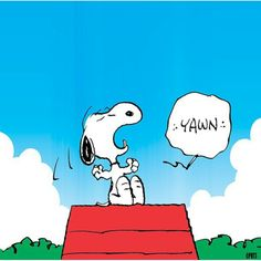 Snoopy On Top Of Doghouse Yawning Snoopy Love, Snoopy And Woodstock, Charlie Brown Cartoon, Snoopy Family, Snoopy Pictures, Joe Cool, Peanuts Snoopy, Peanuts Comics, American Comics