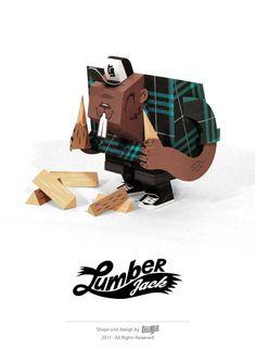 LumberJack - paper toy