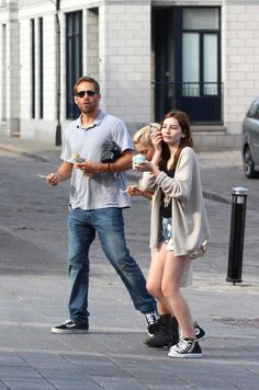 Paul Walker eating ice cream in Montreal, Canada