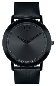 Movado 'Sapphire' Leather Strap Watch, 40mm available at #Nordstrom