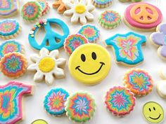 1960s-themed decorated cookies | I Bake, You Bake