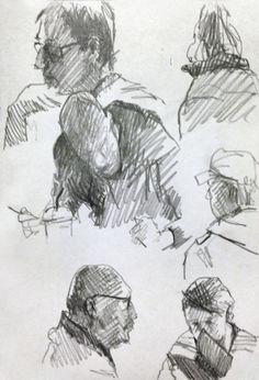 Pencil Sketches - Original artwork by http://davidhewittartist.com/ #Sketchbooks…