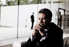 Lestrade in one of Mycroft's suits?....