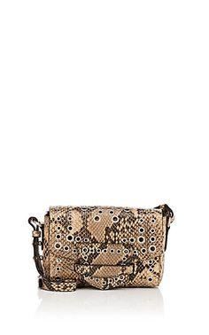 13005d00863d Dries Van Noten Snake-Embossed Leather Small Crossbody Bag - Shoulder Bags  - 505875696 Designer