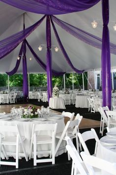 http://www.herworldplus.com/sites/default/files/purple%20wedding%20decor.jpg #weddingdecoration
