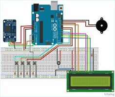 Circuit Diagram for Medicine Reminder Using Arduino Arduino Projects, Electronics Projects, Orange Pi, Diy Tech, Electrical Projects, Circuit Diagram, English Lessons, Medicine, How To Apply