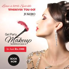 Get Special Look on Your Special days!! HURRY UP #Book #Now! In Just Rs: 1000/- Get waterproof Makeup !! Only at Jukero Beauty Salon