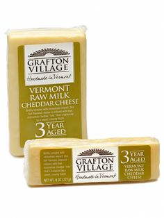 VERMONT - Grafton Village Cheese's artisanal cheddar has earned praise far beyond Vermont's borders. The three-year aged variety has the notable flavor and creamy finish of fine cheddar. With origins that date back to the 1890s, the cheese making operation is part of the Windham Foundation, and purchases of Grafton's cheeses aid the organization's promotion of the state's rural communities.    Get it now: Three-year aged Grafton cheddar, a one-pound block is $16.99 at