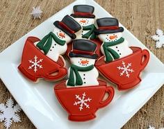 Snowmen Teacups