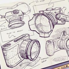 Concept design and iteration    Credit: @nickpbaker   #rotio #sketch #design #idsketch #industrialdesign #dailysketch #productdesign #designsketch #sketchaday #sketchdaily #idsketching #doodle #illustrator #pensketch #designer #concept #camera