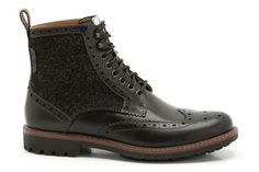 Mens Casual Boots - Montacute Lord in Black Combi Leather from Clarks shoes