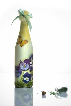 Decorative Glass Bottle  Handmade Gift by EnigmaArt on Etsy, $29.00