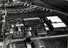 H.B. Ice-Cream Factory and Surroundings, including Urney Chocolate Factory and the orginial house & buildings of Hazelbrook Farm & Dairy, at Nutgrove Avenue, Rathfarnham, with the housing on Whitehall Road, Nugent Road, Whitedown Road, Oakdown Road & the Church of the Good Shepard, Churchtown, Dublin Good Shepard, Photo Engraving, Dublin City, Old Factory, Chocolate Factory, Factories, Dublin Ireland, World History, Old Photos