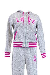 Plus Size Love Zip Up Hoodie Fleece Sweatshirt Jacket