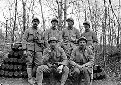 André Delepierre et ses camarades de tranchée...WWI