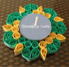 Creative Curls: Quilled Candle Holder