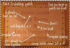 how to spot a fake LOUIS VUITTON -