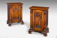 Pair of Regency Period Mahogany Pedestal Cupboards (Ref No. 4446) - Windsor…
