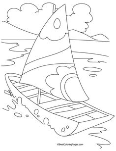 Yacht transport coloring page | Download Free Yacht transport coloring page for kids | Best Coloring Pages