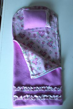 Doll Sleeping Bag and Tutorial