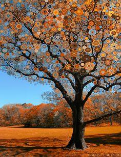 larry carleson, orange star tree, digital photography, 2010.
