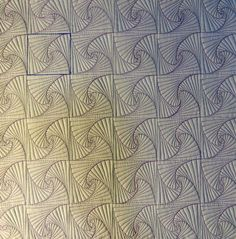 Beautiful background created from Zentangle's Paradox block design.