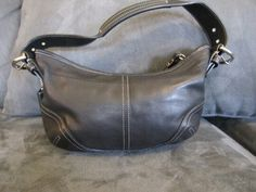 COACH - Authentic Coach Small Black Leathet Hobo