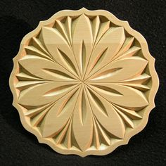 PETALS - hand carved decorative plate