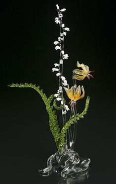 Larger wildflower sculptures