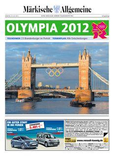 MAZ-Beilage zu den Olympischen Spielen 2012 in London. Hier alle Olympiateilnehmer aus Brandenburg: http://www.maerkischeallgemeine.de/cms/beitrag/12355307/17796240