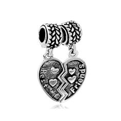 50e134b15 Pugster Silver P Best Friend Charms Bracelet Combined Heart European Beads  Fits Pandora Charm Online Shopping