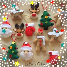 Image Article – Page 3870349663459168 Diy Felt Christmas Tree, Felt Christmas Decorations, Christmas Card Crafts, Christmas Ornament Sets, Diy Christmas Ornaments, Holiday Crafts, Felt Ornaments Patterns, Felt Crafts, Ideas