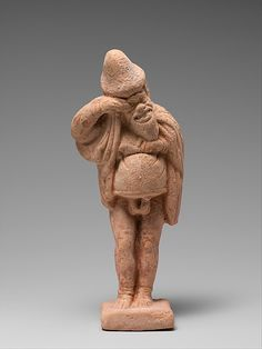 Terracotta statuette of an actor,late classical.late 5th century  Greek