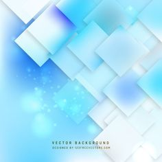 Abstract Light Blue Square Background Design #freevectors