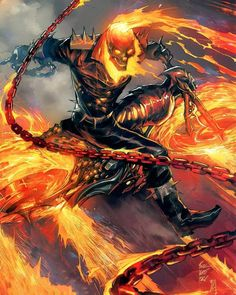 Marvel - Knowing your Ghost Rider: The Differences of Johnny Blaze & Robbie Reyes - The Comic Book Fan Club Marvel Comic Character, Comic Book Characters, Comic Book Heroes, Marvel Characters, Comic Books Art, Comic Art, Arte Dc Comics, Marvel Comics Art, Marvel Heroes