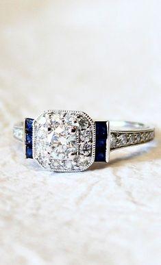 White Gold Halo #Diamonds Engagement #Ring. http://jangmijewelry.com/